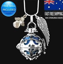 Beautiful Angel Caller Harmony Chime Ball Pendant Necklace Sterling 925 chain