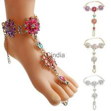 Women Fashion Foot Jewelry Accessory Exquisite Diamond Flower Beach Anklets