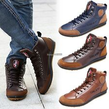 New Men's Fashionable Casual Sneaker Lace-up Shoes Flat Shoes Sport ED