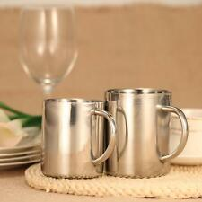 Stainless Steel Drinking Coffee Tea Cup Tub-shaped Beer Mug Beverage Picnic E7F9