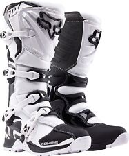 Fox Racing Adult White Black Comp 5 Dirt Bike Boots Motocross MX 2016 SIZE 10