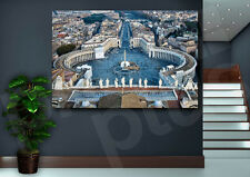 St Peters Square Vatican City Rome Italy Canvas Art Poster Print Wall Decor