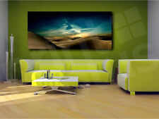 Sand Desert at Night Starry Sky Canvas Art Poster Print Home Wall Decor