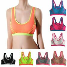 Ladies Sports Bra Yoga Fitness Tank Tops Racerback Stretch Padded Workout Vest