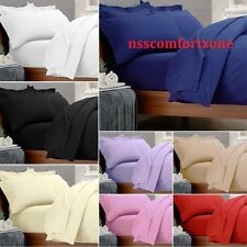 Hotel Collection 800 1000 TC 3pc Duvet Set Solid 100% Egyptian Cotton All Color