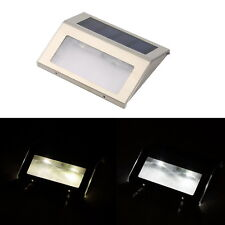 LED Solar Power Path Stair Outdoor Light Garden Fence Wall Landscape Lamp KG