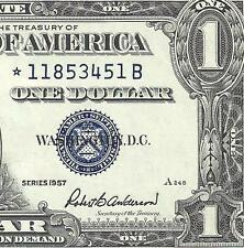 1957 $1 SILVER Certificate! *STAR* CRISP About UNCIRCULATED! Old US Paper Money!
