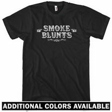 Smoke Blunts T-shirt - Men S-4X - Vintage Cannabis Weed 420 Get High Rap Hip-Hop