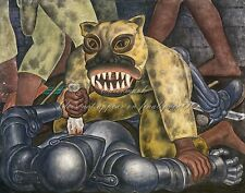 """DIEGO RIVERA Painting Poster or Canvas Print """"Indian Warrior"""""""