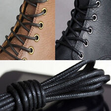2/4X Waxed Round Shoe Laces Shoelace Bootlaces Leather Brogues multi color  LE