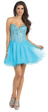 Short Homecoming Dresses Strapless Sequins Corset Back Sassy Prom Mini Cocktail