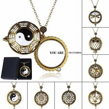 Vintage Chain Magnifying Glass Necklace Pendant Grandma Gift Free Box Jewelry