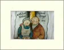 RAYMOND BRIGGS WHEN WIND BLOWS ORIG HAND SIGNED AUTOGRAPH PHOTO 10X8 MOUNTED COA