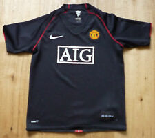 Manchester United Black Away Shirt 2006/07 Size XL Boys. Bargain NR Free Postage