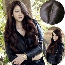 Womens Full wigs Long Curly Wavy hair Wig Cosplay Party Wig With Parted Bangs