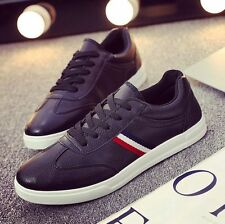 New England Fashion Sneakers Mens Leather Breathable Casual Sports Shoes