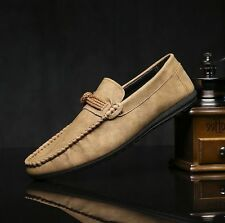 New England Fashion Mens Driving Moccasin Loafer Leather Casual Breathable Shoes