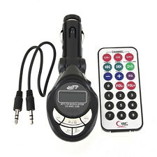 4in1 LCD Car MP3 Player Wireless FM Transmitter USB TF Card + Remote Control KG