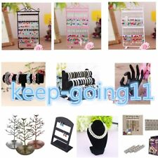 Jewelry Earrings Ring Necklace Watch Display Boxes Stand Holder Show Rack HOT GK