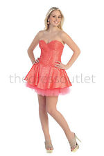 TheDressOutlet Short Homecoming Strapless Formal Prom Dress Cocktail Party