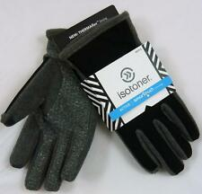 Mens Large ISOTONER Gray/Black SMARTOUCH Touchscreen Compatible GLOVES Active