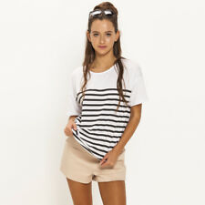 Mink Pink Striped T-Shirt in White