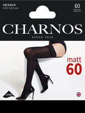 Charnos 60 Denier Opaque Hold Ups Soft Matt Finish Plain Top Stay Ups