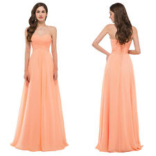 Strapless Women Bridesmaid Long Prom Cocktail Party Evening Dress Maxi Ball Gown