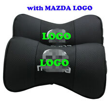 2 X Car Neck Pillow Seat Cushion Headrest for Mazda 2 3 CX-5 CX-6 CX-7 with Logo