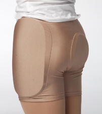 SKIN COLOUR PROTECTIVE PADDED ICE ROLLER SKATING SHORTS / PANTS WARM UP