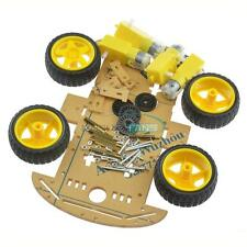 2WD 4WD Robot Smart Car Chassis Kits with Speed Encoder 65x26mm Tire for Arduino