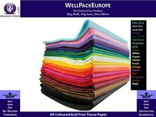 NEW All Coloured Acid Free Tissue Paper High Quality 500mm x 750mm  - 18 GSM -