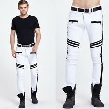 New Mens Fashion Slim Fit Long Cotton Pants Thin Straight Sports Harem Trousers