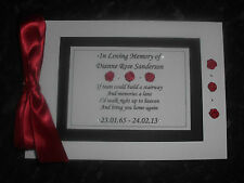 PERSONALISED GUEST BOOK FUNERAL - BOOK OF CONDOLENCE - MEMORY BOOK