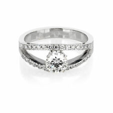 14K White Gold Engagement Ring Size 6 Certified 0.92 CT D VS2 Diamond Enhanced