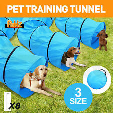 Long Waterproof Pet Dog Agility Training Exercise Tunnel & Carry Bag