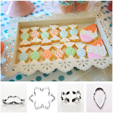 Xmas Stainless Steel Biscuit Cookie Pastry Fondant Mold Cutter Decorating liau