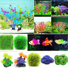 Artificial Grass Gass Coral Water Plant Ornaments Fish Tank Decoration Aquarium