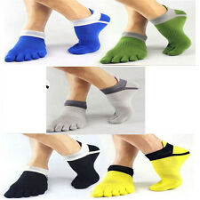 1 pair Men Pure Cotton Toe Socks Sports Five Finger Sock Breathable Comfortable