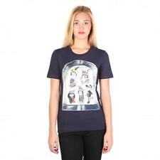 Love Moschino Clothing Women T-shirts Blue 74767 Outlet BDX
