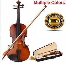 Brand New 4/4 Full Size Acoustic Violin Fiddle with Case Bow Rosin for Beginners