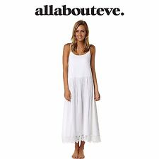 Womens All About Eve Beauty Maxi Dress White Lace Low Neck Back Beach Summer Fun