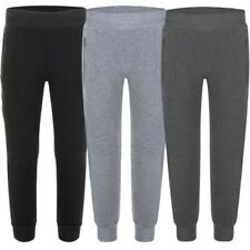 Kids Panelled Tracksuit Bottoms Teen Jogging Pants Boys Girls Sweatpants 3-14 Y