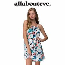 Womens All About Eve Mesmerized Mini Dress Summer Floral Casual Beach Sundress