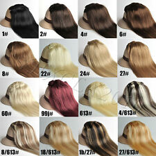 """Full head 20"""" 15 colors 7pcs 70g clip in human hair extensions,fast shipping"""