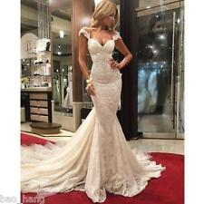 Sexy Mermaid Lace Sweetheart Wedding Dress Bridal Gown Custom Size 2 4 6 8 10 12
