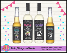 ** PERSONALISED HOUSEWARMING NEW HOME HOUSE WINE BOTTLE LABELS GIFTS PRESENTS **