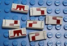 LEGO Decorated Tile Tile 1 x 2 with X-wing Fighter Left Right x7PC