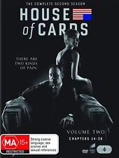 House of Cards The Complete Second Season Two 2 (DVD, 2014, 4-Disc Set)