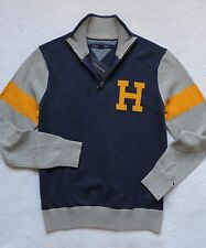 NWT Tommy Hilfiger Men's Half Zip Mock Neck Sweater, Blue, Size: M, L